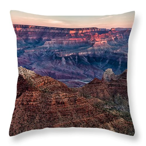 Landscape Throw Pillow featuring the photograph Navajo Point Sunrise by Steven Hirsch