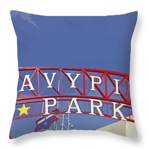 Navy Pier Throw Pillow featuring the photograph Navy Pier by Mary Machare