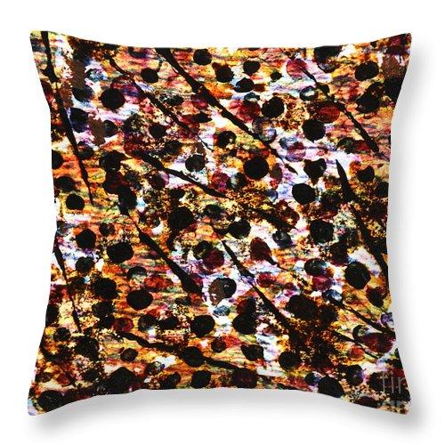 Abstract Throw Pillow featuring the mixed media Near De Vine by TB Schenck