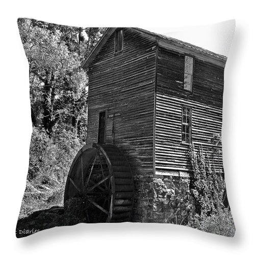 Mill Throw Pillow featuring the digital art Nearly Forgotten by DigiArt Diaries by Vicky B Fuller