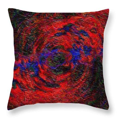 Digital Throw Pillow featuring the digital art Nebula 1 by Charmaine Zoe