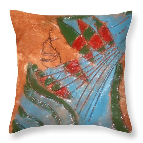 Jesus Throw Pillow featuring the ceramic art Need More Candy - Tile by Gloria Ssali