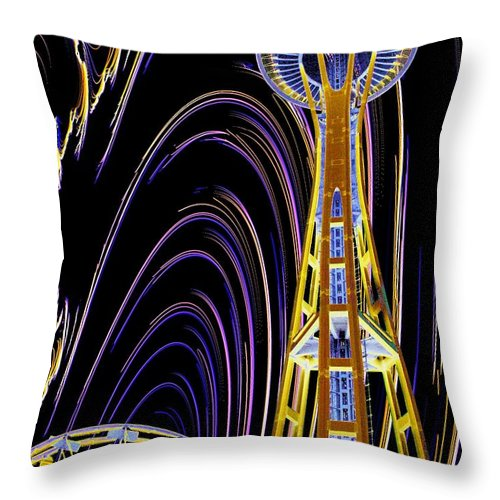 Seattle Throw Pillow featuring the photograph Needle And The Firefly by Tim Allen
