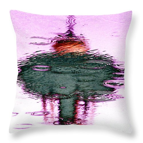 Seattle Throw Pillow featuring the photograph Needle In A Raindrop Stack 5 by Tim Allen