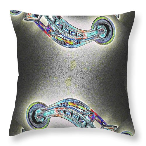 Seattle Throw Pillow featuring the photograph Needle In Fractal by Tim Allen