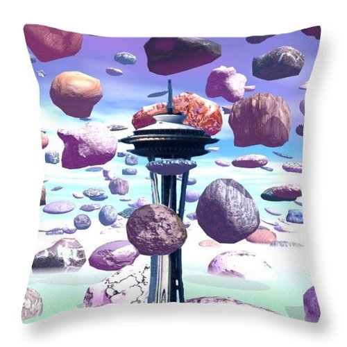 Seattle Throw Pillow featuring the photograph Needle Rocks by Tim Allen