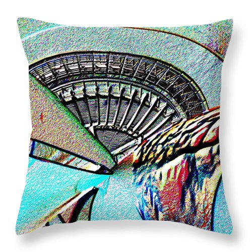 Seattle Throw Pillow featuring the digital art Needle Tubes by Tim Allen