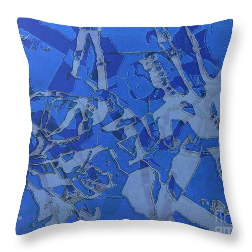 Silkscreen Throw Pillow featuring the digital art Negative Photo Silkscreen by Ron Bissett