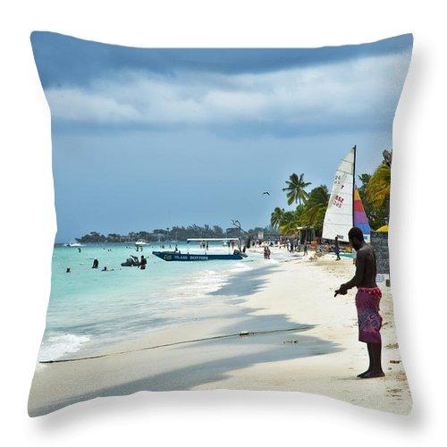Jamaica Throw Pillow featuring the photograph Negril Heaven by Sheri Bartoszek