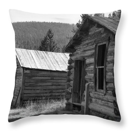 Abandoned Throw Pillow featuring the photograph Neighbors by Richard Rizzo