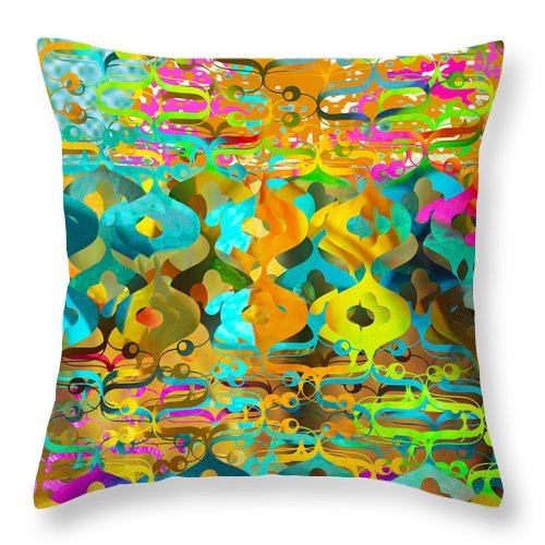 Abstract Throw Pillow featuring the digital art Nemo by Ceil Diskin