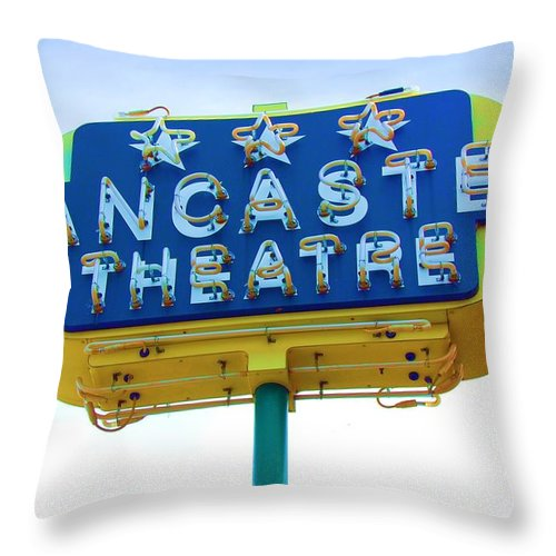 Sign Throw Pillow featuring the photograph Neon by Debbi Granruth