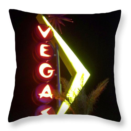 Fremont East Throw Pillow featuring the photograph Neon Signs 2 by Anita Burgermeister