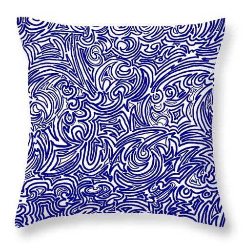 Swirls Throw Pillow featuring the digital art Nervous by Christopher Rowlands