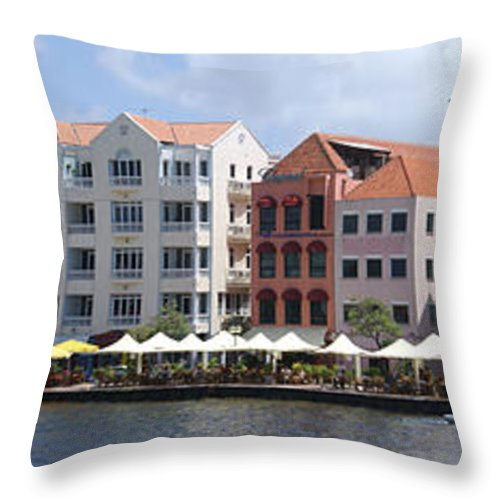 Main Street Throw Pillow featuring the photograph Netherlands Antilles by Heather Coen