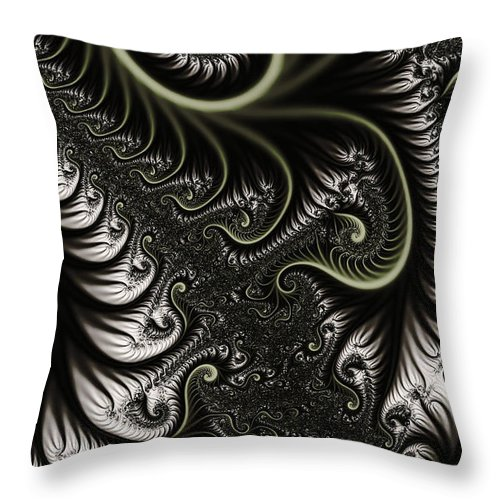 Clay Throw Pillow featuring the digital art Neural Network by Clayton Bruster