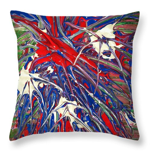 Neuronal Throw Pillow featuring the painting Neuronal Dendrites by Jennifer Talbot