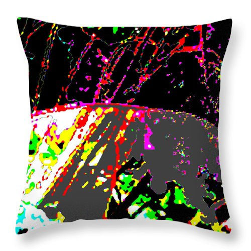 Square Throw Pillow featuring the digital art Neutrinos At Play by Eikoni Images