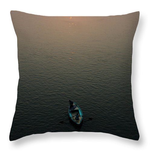 Monochrome Throw Pillow featuring the photograph Never Alone by Shailendra Rana