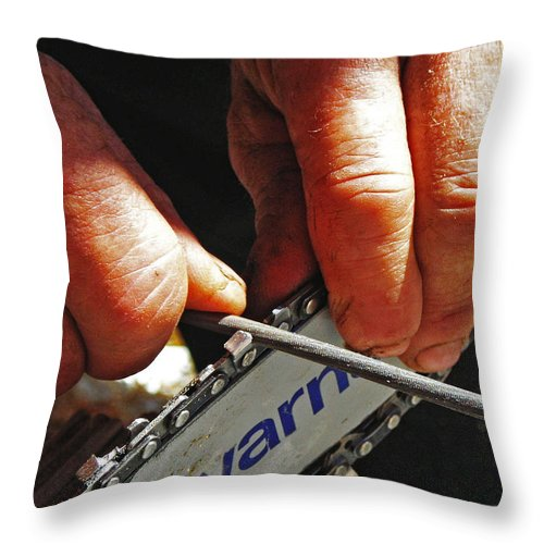 Husqvarna Throw Pillow featuring the photograph Never Tired ... by Juergen Weiss