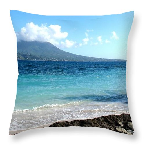 Nevis Throw Pillow featuring the photograph Nevis Across The Channel by Ian MacDonald