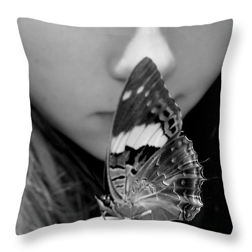 Black And White Photography Throw Pillow featuring the photograph New Beginning by Shelley Jones