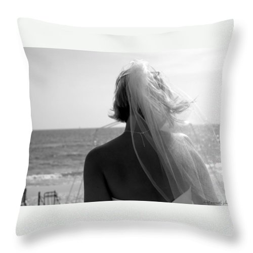 Bride Throw Pillow featuring the photograph New Beginning by Sheri Bartoszek