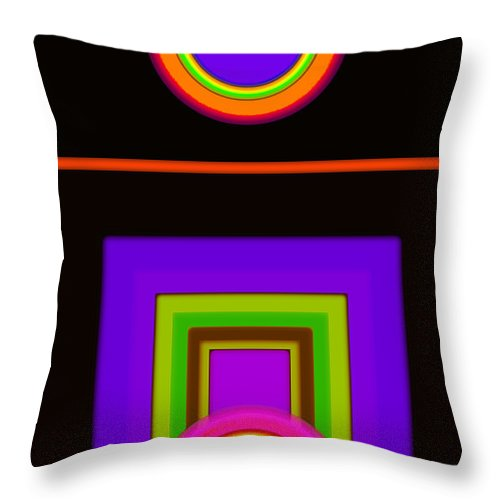 Classical Throw Pillow featuring the digital art New Black Classic by Charles Stuart