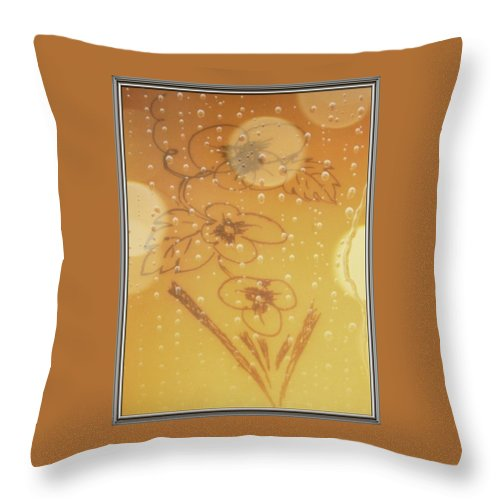 Flower Throw Pillow featuring the drawing New Born by Sant Bhuarya