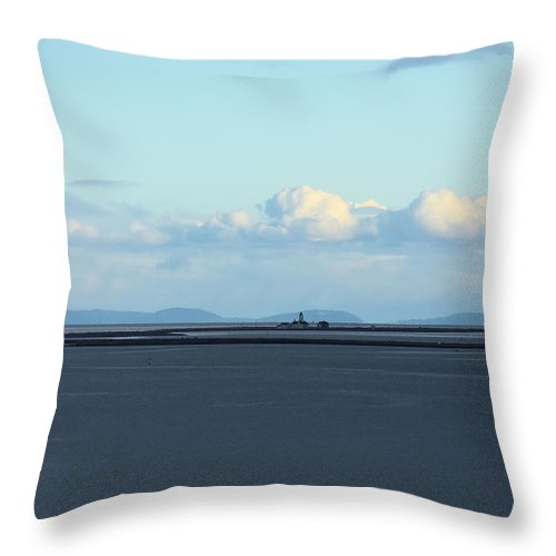 Lighthouse Throw Pillow featuring the photograph New Dungeness Lighthouse by Rich Bodane