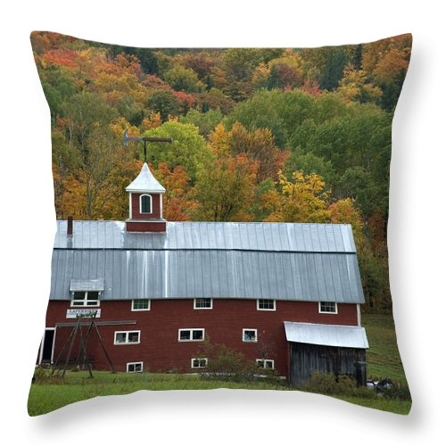 Barn Throw Pillow featuring the photograph New England Barn by Jessica Wakefield