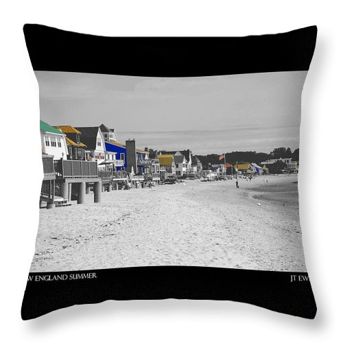 Summer Throw Pillow featuring the photograph New England Summer by J Todd