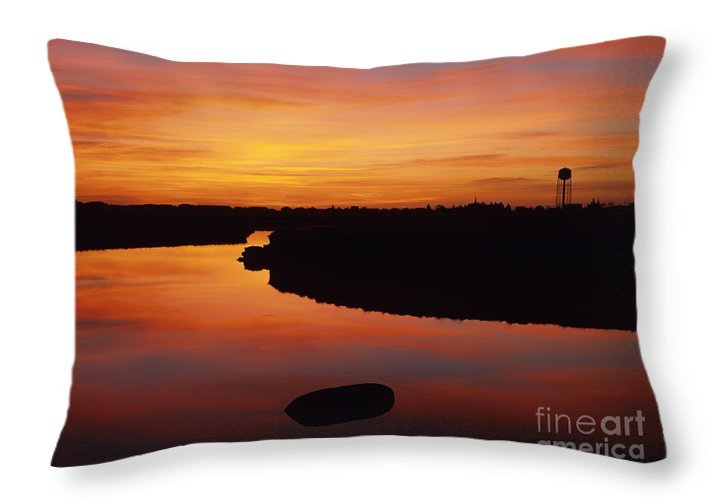 Atlantic Ocean Throw Pillow featuring the photograph New Hampshire Salt Marsh At Sunrise by Erin Paul Donovan