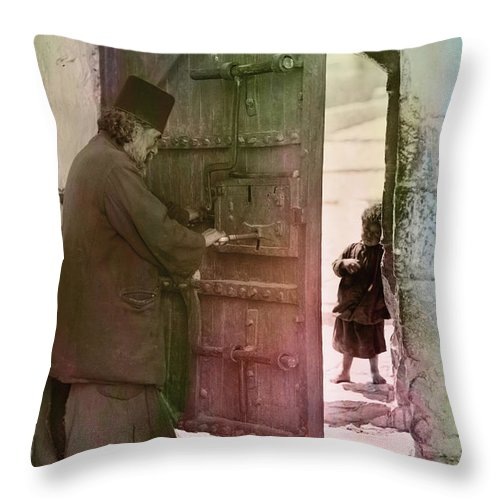 Bethlehem Throw Pillow featuring the photograph New Hope by Munir Alawi