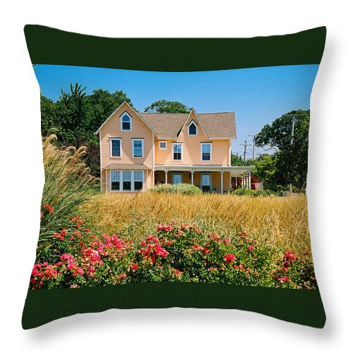 Landscape Throw Pillow featuring the photograph New Jersey Landscape by Steve Karol