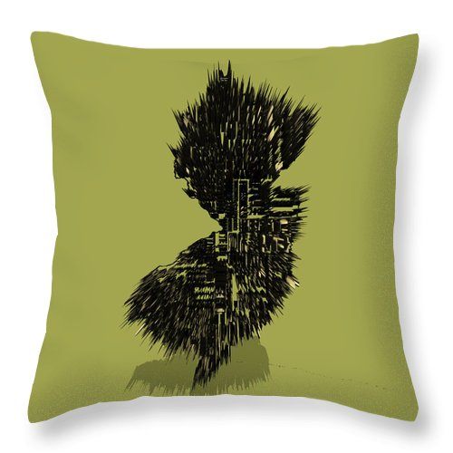 New Jersey Throw Pillow featuring the digital art New Jersey Typographic Map 4a by Brian Reaves