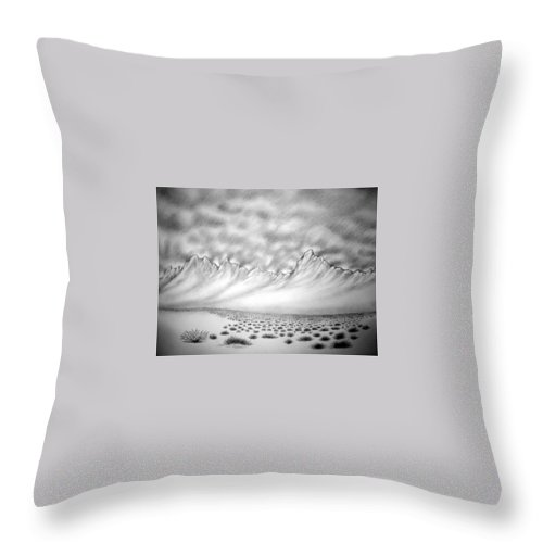 Throw Pillow featuring the drawing New Mexico passage by Marco Morales