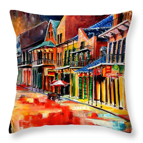 New Orleans Throw Pillow featuring the painting New Orleans Jive by Diane Millsap