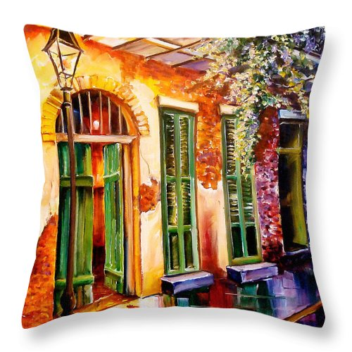 New Orleans Throw Pillow featuring the painting New Orleans Mystery by Diane Millsap