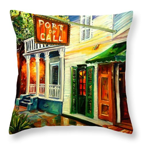 New Orleans Throw Pillow featuring the painting New Orleans Port Of Call by Diane Millsap