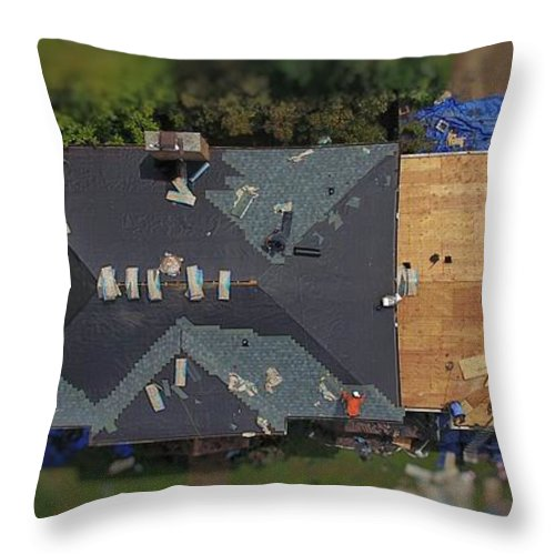 New Roof Throw Pillow For Sale By Michael Tims