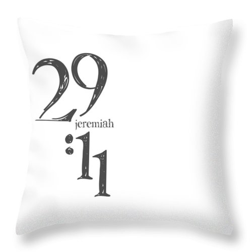 Daniel 4 Expressions Throw Pillow featuring the digital art Daniel 4 Linen by Claire Tingen