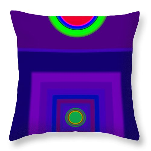 Classical Throw Pillow featuring the digital art New Violet by Charles Stuart