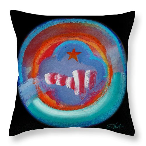 Manhattan Throw Pillow featuring the painting New York by Charles Stuart