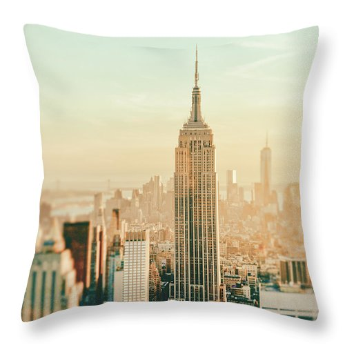 Nyc Throw Pillow featuring the photograph New York City - Skyline Dream by Vivienne Gucwa