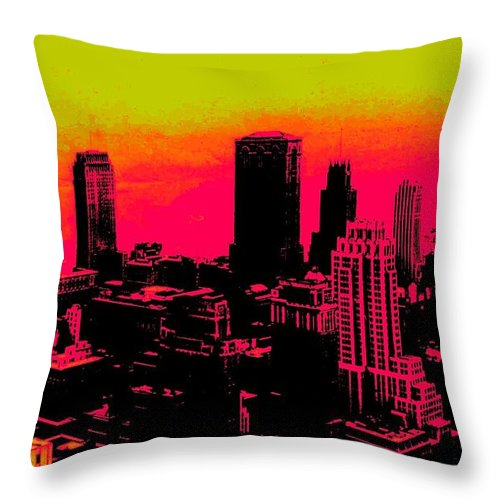 Truck Throw Pillow featuring the photograph New York Pink by Lord Frederick Lyle Morris - Disabled Veteran