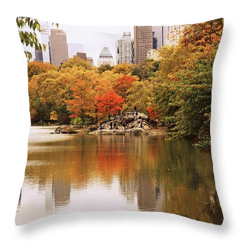 New York Throw Pillow featuring the photograph New York Reflections by Jessica Jenney