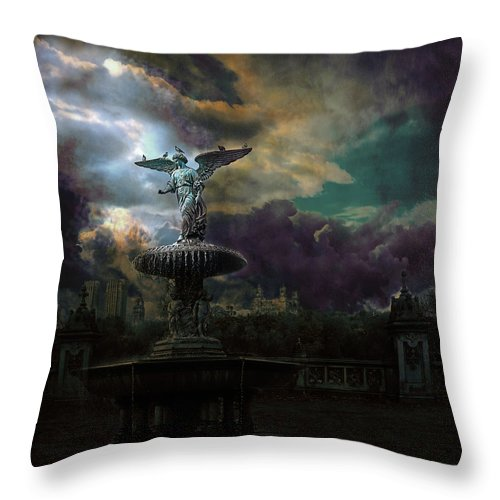 New York Throw Pillow featuring the photograph New York Series Number 3 by Jeff Burgess
