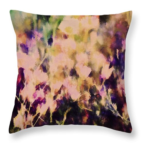 Flowers Throw Pillow featuring the photograph New York Wildflowers Xiii by Tina Baxter