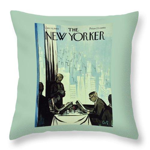 New Yorker January 16 1960 Throw Pillow